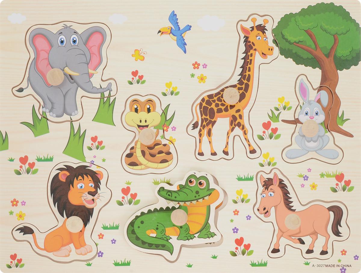 Фабрика Фантазий Пазл для малышей Животные Сафари флексика пазл для малышей геометрия цвет основы красный