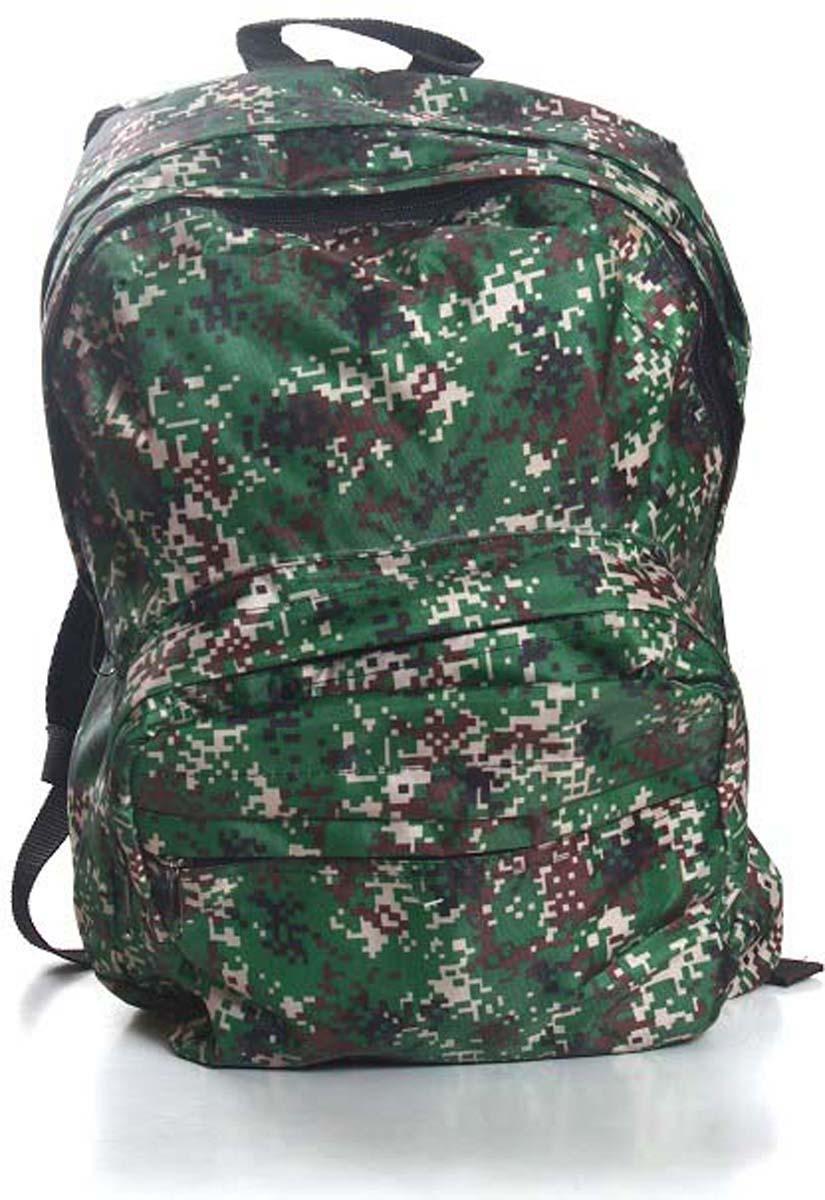 Рюкзак городской Ibag Пиксели, цвет: зеленый, 18 л182 пиксилиЯркий и стильный рюкзак. Отличное решение для города. Рюкзак имеет два вместительных отделения и два наружных кармана на молнии.