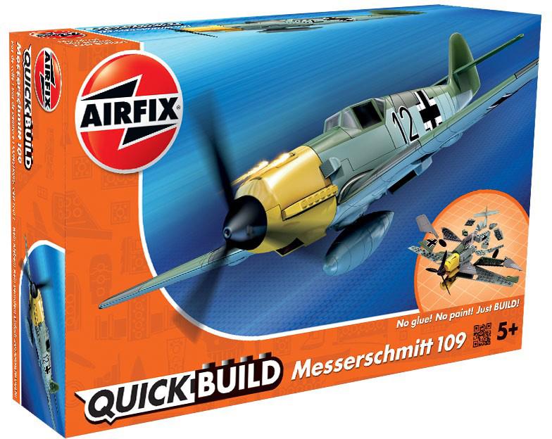 Airfix Конструктор QUICK BUILD Messerschmitt Bf109 dragon 3222 1 32 messerschmitt bf109e 3