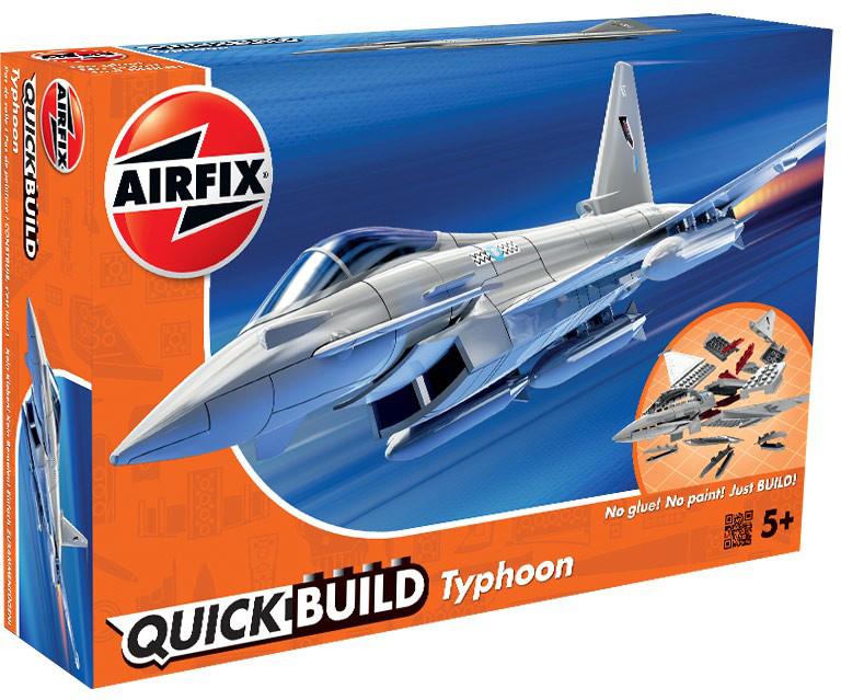 Фото Airfix Конструктор QUICK BUILD Eurofighter Typhoon