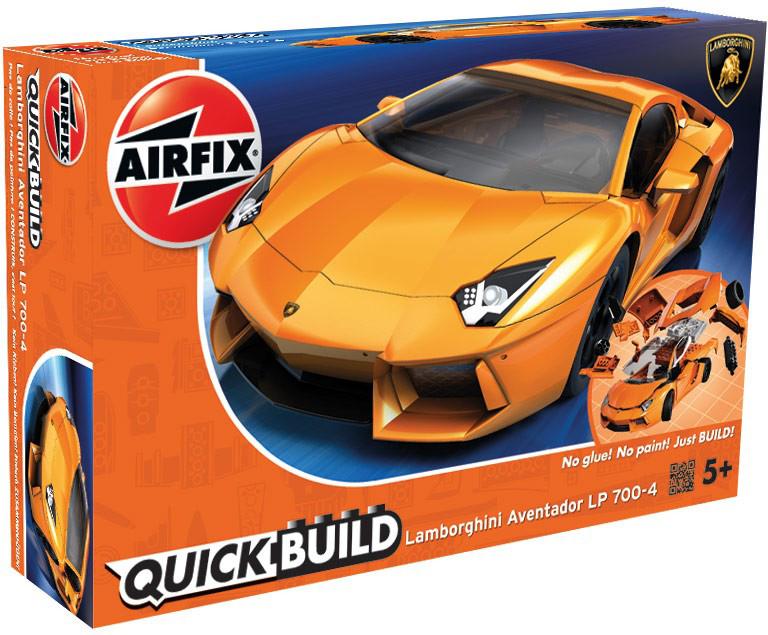 Airfix Конструктор QUICK BUILD Lamborghini Aventador pr08 1 5dp