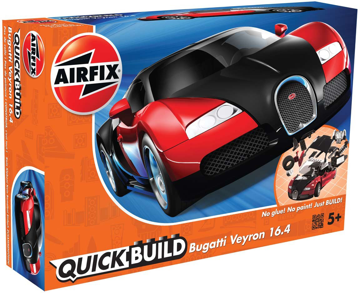 Airfix Конструктор QUICK BUILD Bugatti Veyron New Colour