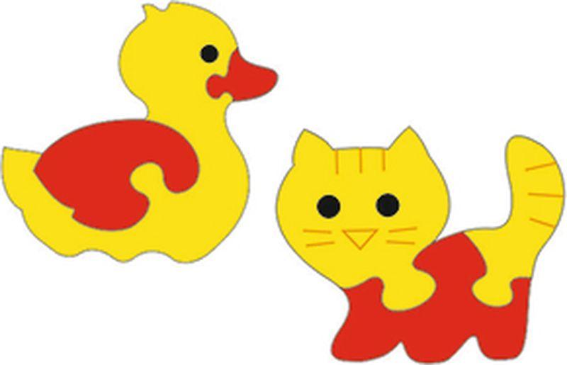 Флексика Мягкая мозаика набор Уточка и котенок флексика что такое