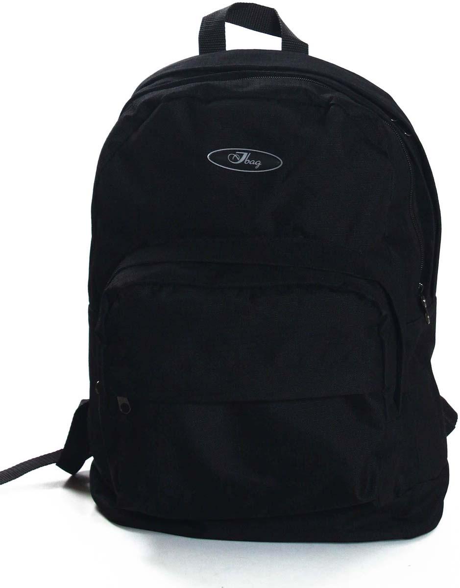Рюкзак городской Ibag Черный Рибстоп, цвет: черный, 18 л182 Черный РибстопЯркий и стильный рюкзак. Отличное решение для города. Рюкзак имеет два вместительных отделения и два наружных кармана на молнии.