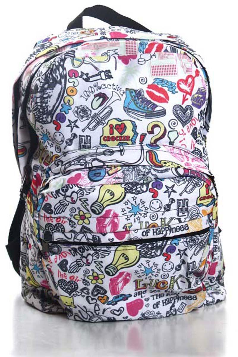 Рюкзак городской Ibag Яркая жизнь, цвет: белый, 18 л182 яркая жизньЯркий и стильный рюкзак. Отличное решение для города. Рюкзак имеет два вместительных отделения и два наружных кармана на молнии.