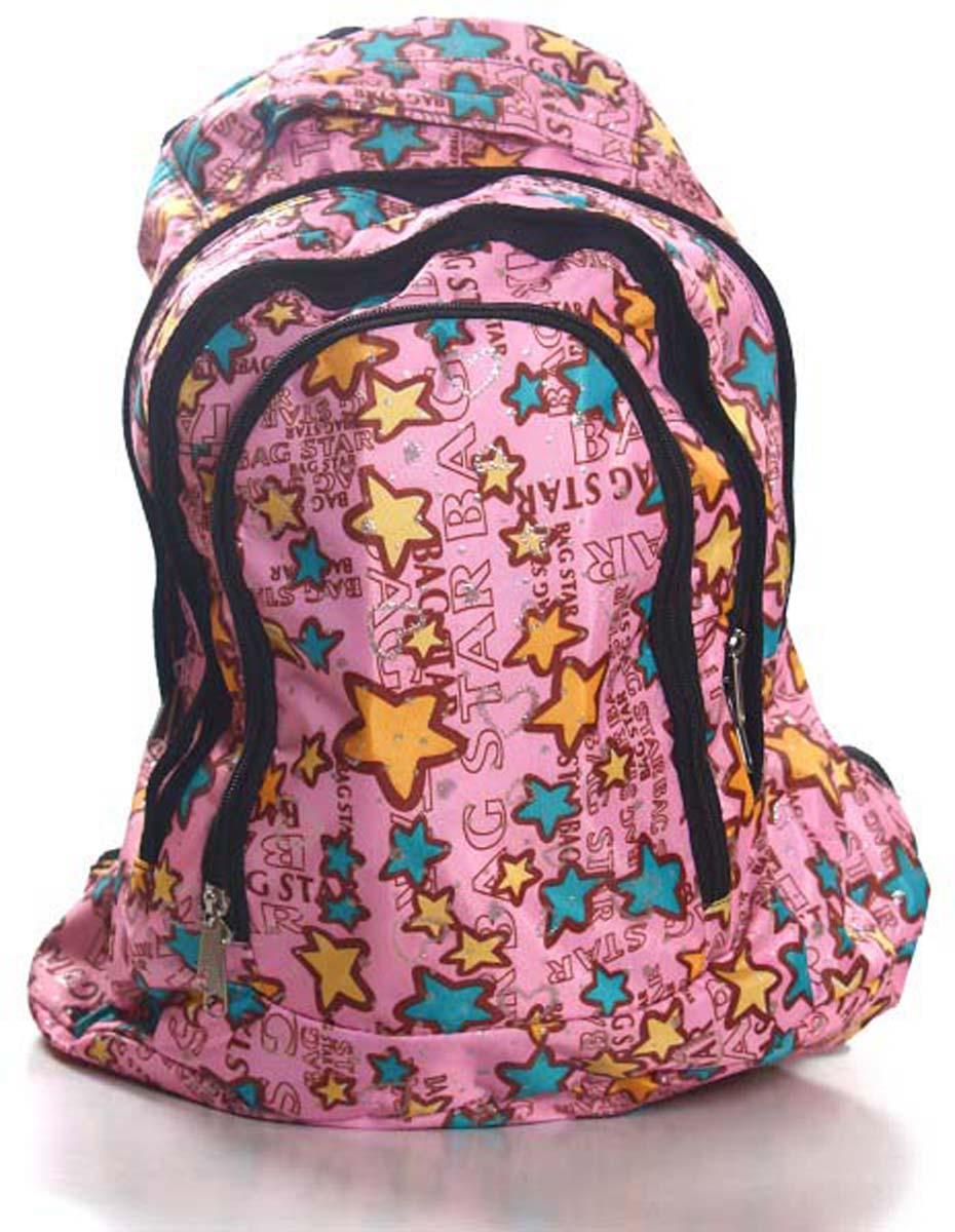 Рюкзак городской Звезды, цвет: розовый, 25 л251 звездыМолодежный рюкзак среднего размера. Стильный дизайн и хорошее качество. Рюкзак имеет два больших отделения на молнии и одно маленькое, так же на молнии. Есть удобная ручка для переноски.