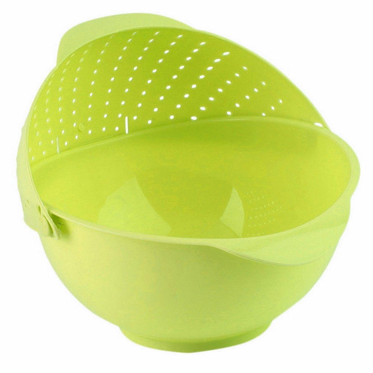 Дуршлаг-чаша Ruges Фильтрен, цвет: светло-зеленый, 27 х 25 х 11 смK-59Ruges Фильтрен - это вместительная пластиковая чаша с перекидным дуршлагом на ободе. Изделие выполнено из пластика. Удобство в том, что пусть вы собрали фрукты в чашу - заливайте в ней же водой, мойте и сливайте воду, наклонив чашу в сторону дуршлага. То же самое с зеленью или замоченными крупами. Размеры: 27 х 25 х 11 см.Объем: 2,7 л.Вес: 175 г.