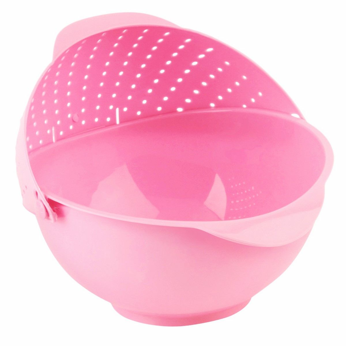 Дуршлаг-чаша Ruges Фильтрен, цвет: розовый, 27 х 25 х 11 смK-60Еще одно предложение из категории 2 в 1: вместительная пластиковая чаша с перекидным дуршлагом на ободе. Удобство в том, что пусть вы собрали фрукты в чашу – заливайте в ней же водой, мойте и сливайте воду, наклонив чашу в сторону дуршлага. То же самое с зеленью или замоченными крупами. И наше благодарим! тому, кто придумал: когда на кухне удобно и легко, то даже еда вкуснее получается! Размеры: 27 х 25 х 11 см.Объем: 2700 мл.Вес: 175 г.Материал: пластик. Комплектация: чаша дуршлаг 1 шт.