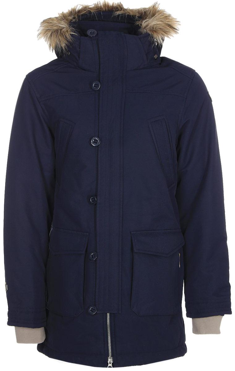 Пальто мужское Icepeak, цвет: темно-синий. 856053532IV_390. Размер 54
