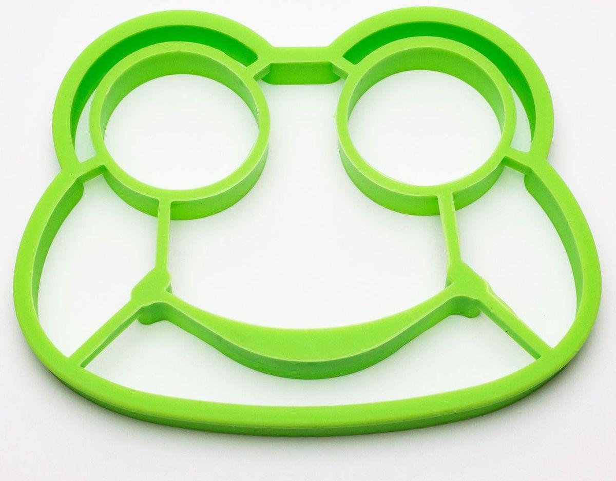 Форма для яичницы Ruges Квакуша, цвет: зеленый, 14 х 11 х 1 см ruges аксессуары