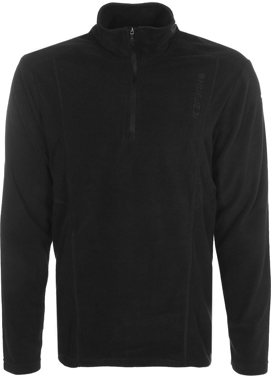 Толстовка мужская Icepeak, цвет: черный. 857777596IV_990. Размер S (48)857777596IV_990Мужская толстовка Icepeak подойдет как для активного отдыха, так и для повседневной носки. Модель выполнена из мягкого флиса. Теплоизоляционный дышащий и греющий материал прекрасно подходит для принципа многослойности в одежде. Он легкий и быстро сохнет. Специальная обработка Antipilling уменьшает закатывание волокон в комочки на поверхности изделия, сохраняя первоначальный внешний вид. Мужская толстовка Icepeak прямого силуэта с втачным кроем рукавов. Воротник-стойка в спортивном стиле. Застежка-молния до середины груди для комфортного переодевания.