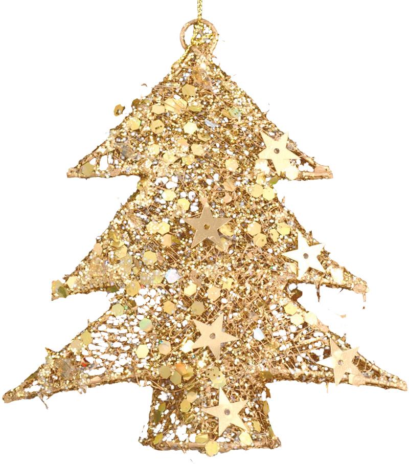 Украшение для интерьера новогоднее Erich Krause Елочка, 11 см21521Елочка имеет проволочный каркас. По периметру украшена миниатюрными золотыми звездочками. Упаковка - полибэг.