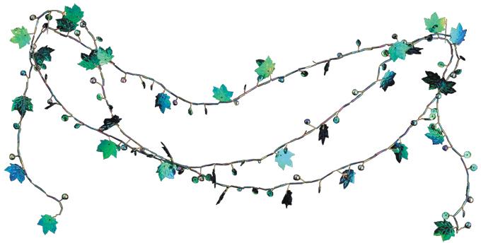 Украшение для интерьера новогоднее Erich Krause Гирлянда Листопад, 200 см. 2258522585Гирлянда в виде синих цветов и зеленых листьев украсит помещение, наполняя его яркими красками. Упаковка - полибэг.