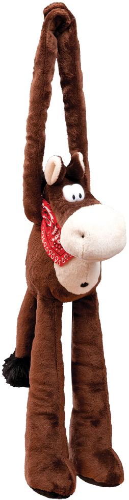 Украшение для интерьера новогоднее Erich Krause Конь, 36 см34395Игрушку-лошадку можно повесить на дверную ручку или в любое место помещения при помощи липучек на ее лапах. Упаковка - полибэг.