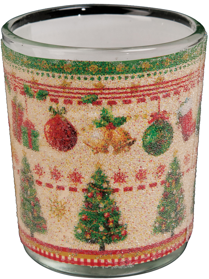 Подсвечник Erich Krause Рождественское дерево, для свечей-картриджей, 3,5 см36789Оригинальный стеклянный подсвечник для свечей-картриджей декорированярким новогодним узором из елочек и праздничных украшений. Новогодниеукрашения всегда несут в себе волшебство и красоту праздника. Создайте всвоем доме атмосферу тепла, веселья и радости, украшая его всей семьей.