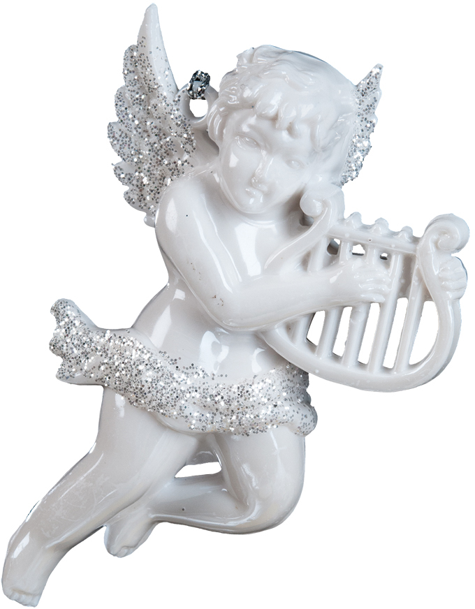 Украшение для интерьера новогоднее Erich Krause Музыкальный Амур, 10 см. 3606736067Ангелы всегда являются одними из самых популярных новогодних украшений. В руках у ангела, выполненного в перламутровом цвете, находится музыкальный инструмент, а его крылья деликатно присыпаны блестками. Представлено две модели в ассортименте. Выбор модели невозможен. Упаковка - полибэг.