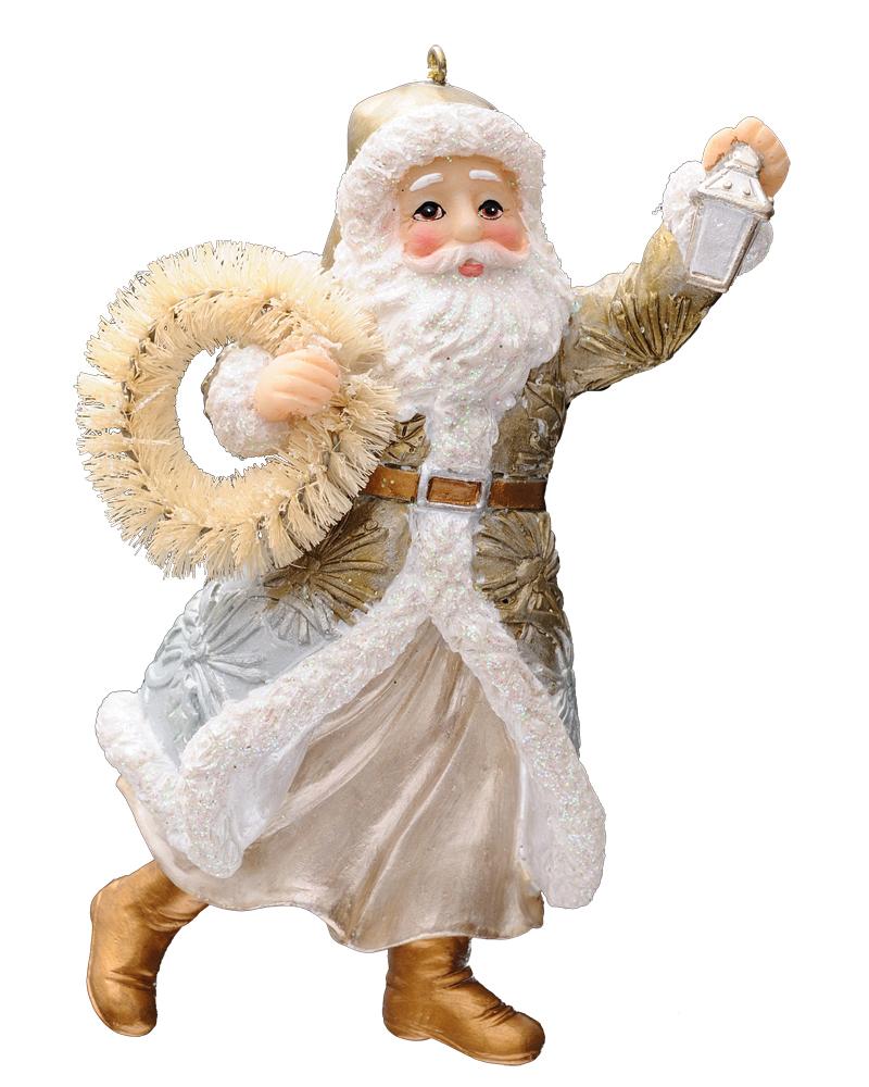 Украшение для интерьера новогоднее Erich Krause Дедушка с венком, 11 см38623Дед Мороз - одно из популярных елочных украшений. Праздничный венок добавляет персонажу очарование. Упаковка - полибэг.