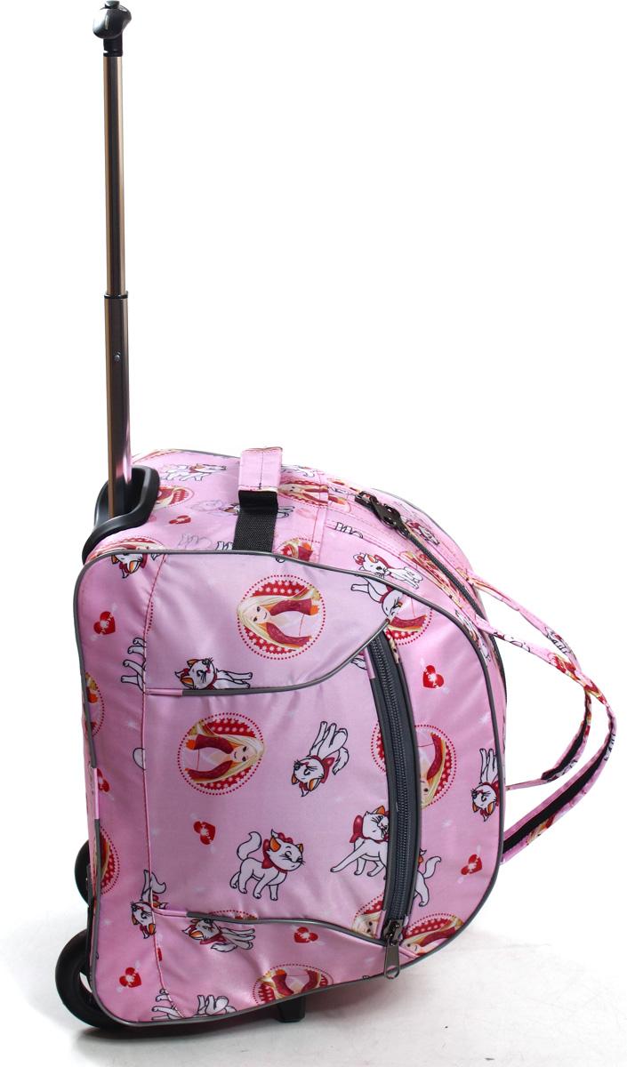Сумка дорожная Ibag Девочка и кошка, на колесах, цвет: розовый, 40 л1601 девочка и кошкаручная кладь 103Компактная 16ти дюймовая колесная сумка, идеально подойдет для любого типа поездок. Ручная кладь!Снаружи есть карман на молнии, в котором очень удобно можно разместить мелкие вещи, такие как документы, телефон, ключи и т.д. Удобная телескопическая ручка и колеса сделают Вашу поездку максимально комфортной, а оригинальный дизайн и цвет сумки не оставит Вас равнодушным к данной модели.