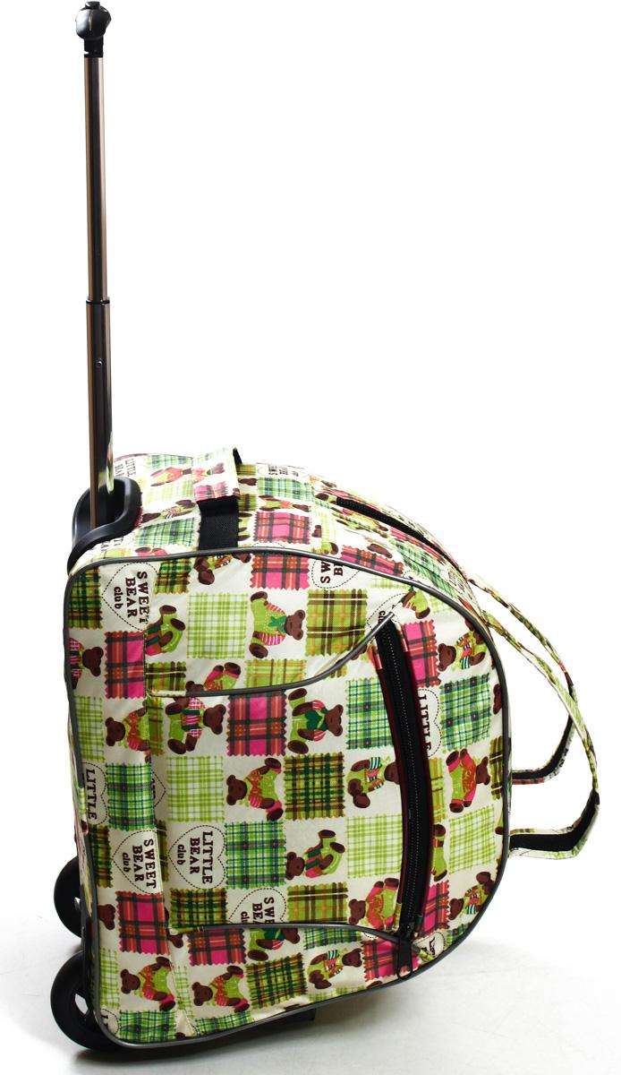 Сумка дорожная Ibag Мишки, на колесах, цвет: светло-зеленый, 40 л1601 МишкиКомпактная 16ти дюймовая колесная сумка Ibag, идеально подойдет для любого типа поездок. Ручная кладь!Снаружи есть карман на молнии, в котором очень удобно можно разместить мелкие вещи, такие как документы, телефон, ключи. Удобная телескопическая ручка и колеса сделают вашу поездку максимально комфортной, а оригинальный дизайн и цвет сумки не оставит вас равнодушным к данной модели.