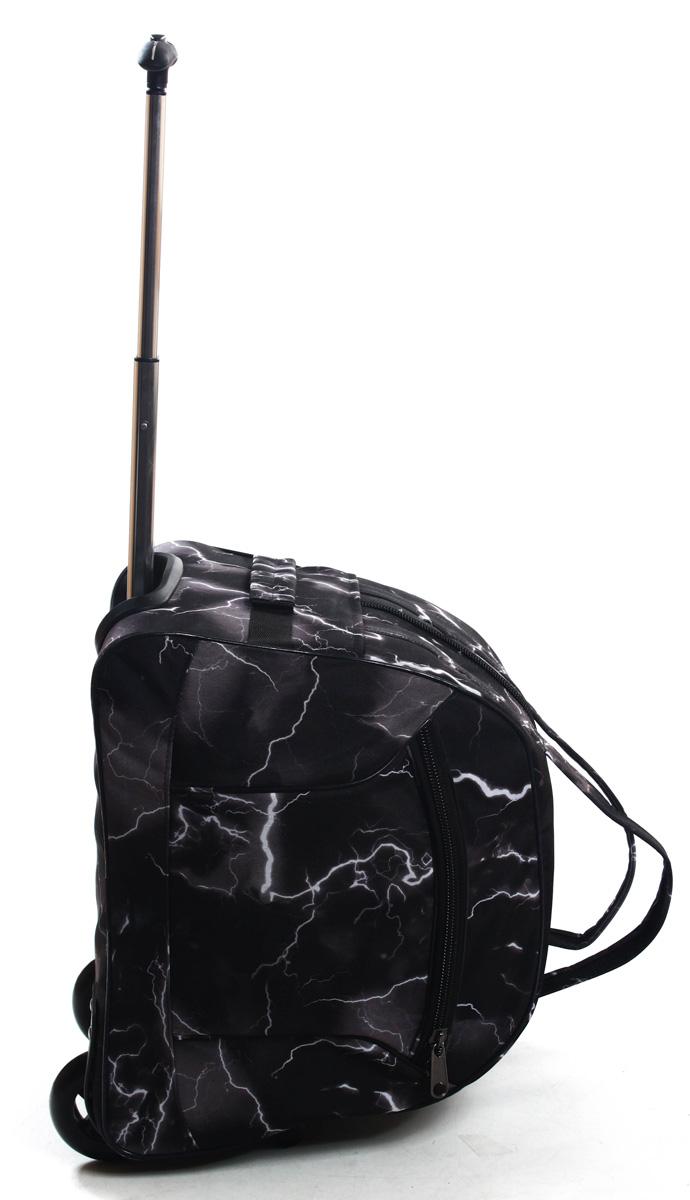 Сумка дорожная Ibag Молния, на колесах, цвет: черный, 40 л1601 МолнияКомпактная 16ти дюймовая колесная сумка Ibag, идеально подойдет для любого типа поездок. Ручная кладь!Снаружи есть карман на молнии, в котором очень удобно можно разместить мелкие вещи, такие как документы, телефон, ключи. Удобная телескопическая ручка и колеса сделают вашу поездку максимально комфортной, а оригинальный дизайн и цвет сумки не оставит вас равнодушным к данной модели.