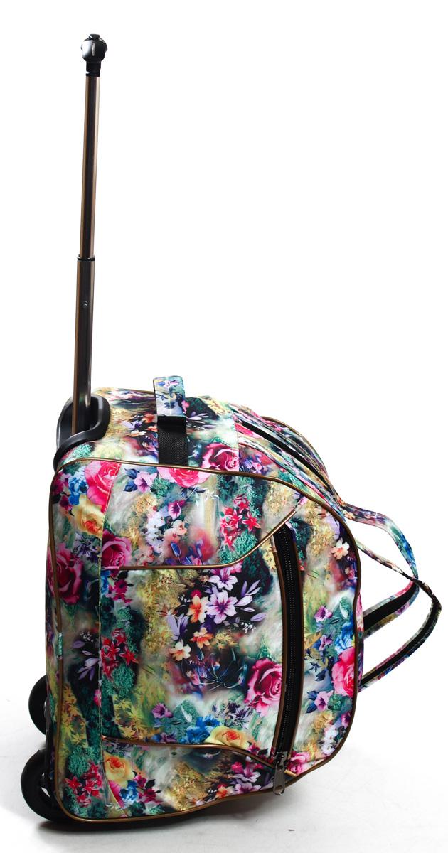 Сумка дорожная Ibag Яркие цветы, на колесах, цвет: розовый, 40 л1601 яркие цветыручная кладь 103Компактная 16ти дюймовая колесная сумка, идеально подойдет для любого типа поездок. Ручная кладь!Снаружи есть карман на молнии, в котором очень удобно можно разместить мелкие вещи, такие как документы, телефон, ключи и т.д. Удобная телескопическая ручка и колеса сделают Вашу поездку максимально комфортной, а оригинальный дизайн и цвет сумки не оставит Вас равнодушным к данной модели.
