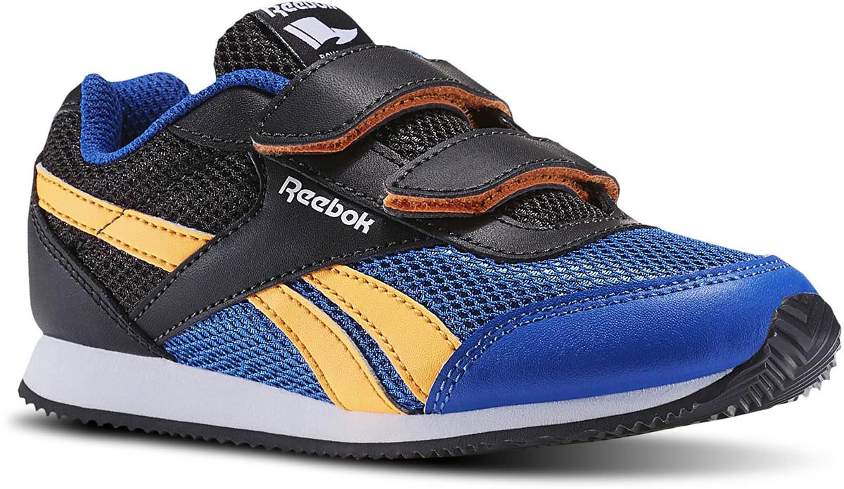 Кроссовки для мальчика adidas Reebok Royal Cljog, цвет: черный, синий. BD4001. Размер 34,5BD4001Детские кроссовки для мальчиков Reebok Royal Classic Jogger 2.0 Kids, артикул BD4001. Юному спортсмену придется по вкусу эта ретро модель с современными функциональными особенностями. Застёжка на липучках облегчит надевание. Сетчатый верх для лучшей вентиляции с вставками из искусственной кожи для прочности. Мягкая съёмная ортопедическая стелька для комфорта. Подошва из ЭВА для непревзойдённой амортизации, а резиновая подмётка с рельефной поверхностью подарит сцепление.