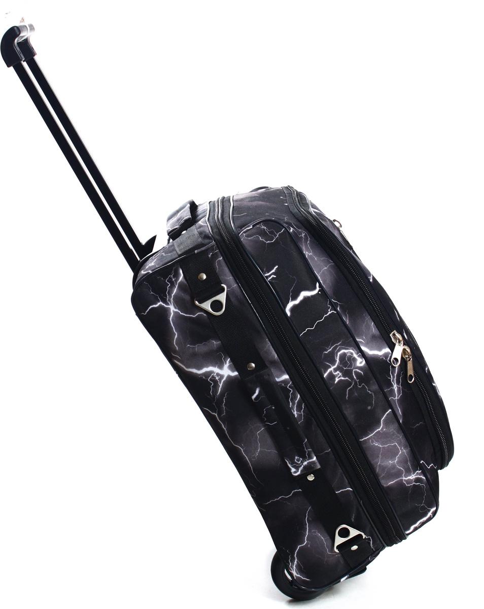 Сумка дорожная Ibag Молния, на колесах, цвет: темно-серый, 31,5 л1824 МолнияСумка дорожная Ibag Молния - стильный, вместительный в использовании и компактный в хранении мягкий чемодан. Помимо телескопической ручки, данная модель имеет 2 ручки для ручной переноски, как в горизонтальном, так и в вертикальном положениях. Есть второе дно, которое идеально для транспортировки, например, обуви, чтобы не складывать все вместе с вещами в один отдел. Широкие ножки-пукли, увеличение объема за счет раздвижной молнии и удобный карман снаружи для мелочей, большие металлические молнии и бегунки - все это сделает вашу поездку максимально комфортной и надежно сохранит ваши вещи.