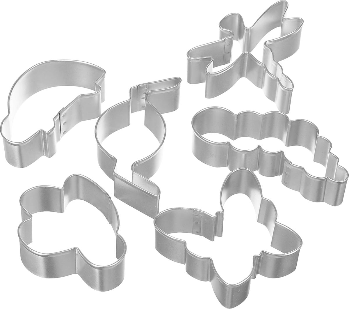 Формы для вырезания печенья Wilton Жучки и бабочки, 6 штWLT-2308-1245Удобные формочки для вырезания печенья, украшений, создания веселых бутербродов и многого другого. Можно использовать как трафареты для поделок и с непищевыми материалами (бумагой и др.).Размер форм: 7 х 7 х 2.5 см, 7 х 8 х 2.5 см, 7 х 6 х 2.5 см, 9.5 х 3 х 2.5 см, 8 х 4 х 2.5 см, 9 х 6 х 2.5 см.Возрастная категория: 3+.
