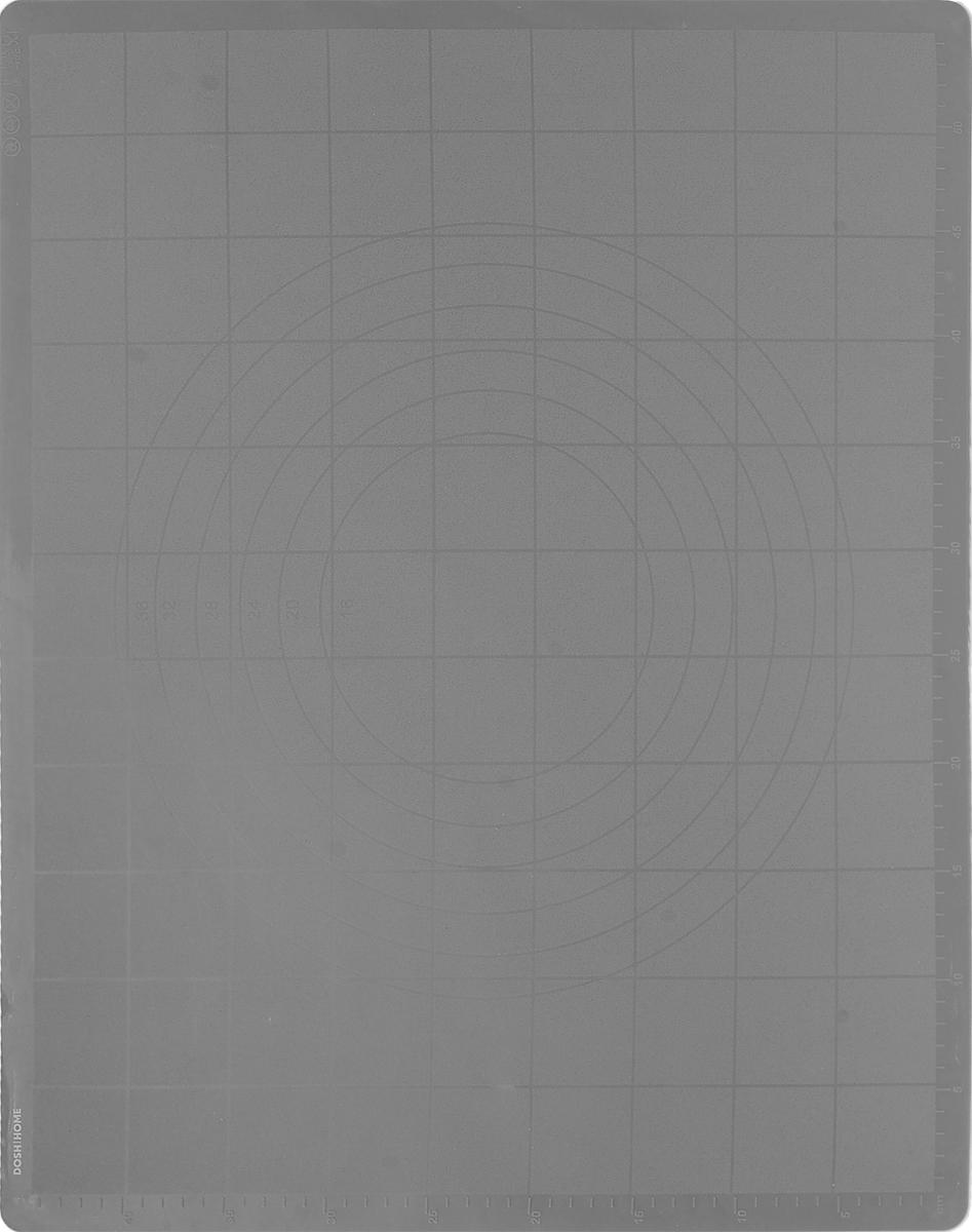Лист силиконовый для раскатки теста Dosh Home Gemini, 58 см x 48 смZK133Отлично подходит для раскатки теста. Идеально ложится на поверхность стола,тесто к нему не прилипает, после использования можно скатать или свернуть.Легко моется и не впитывает запахи, гигиеничен. На поверхность нанесена сеткадля удобства отмеривания и отрезания раскатываемого теста. Жароупорен -можно использовать в качестве подставки под горячее.