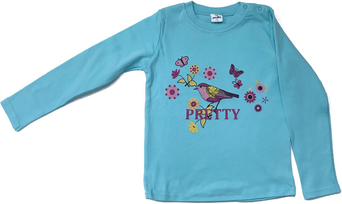 Футболка с длинным рукавом для девочки Arge Fashion, цвет: голубой. MRM-15B-42-5. Размер 86 6colors fashion 100