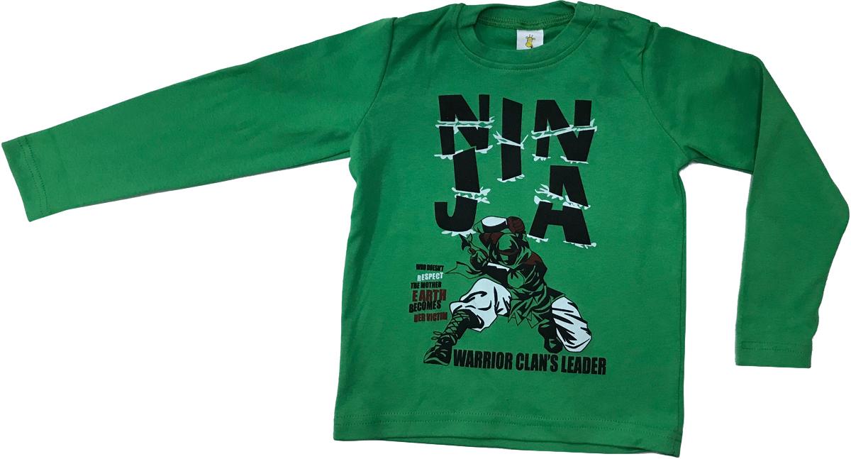 Футболка с длинным рукавом для мальчика Arge Fashion, цвет: зеленый. MRM-15B-42 7003-15. Размер 104 цена