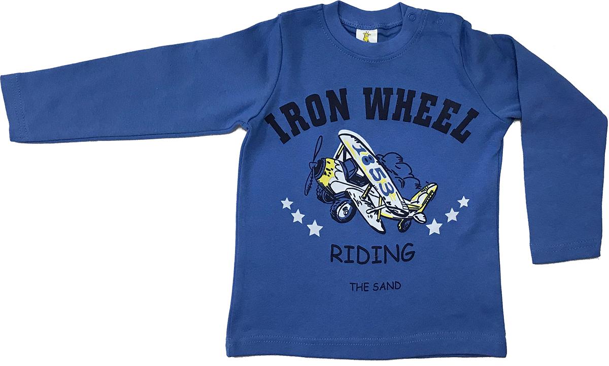 Футболка с длинным рукавом для мальчика Arge Fashion, цвет: синий. MRM-15B-42 7003-18. Размер 86 6colors fashion 100