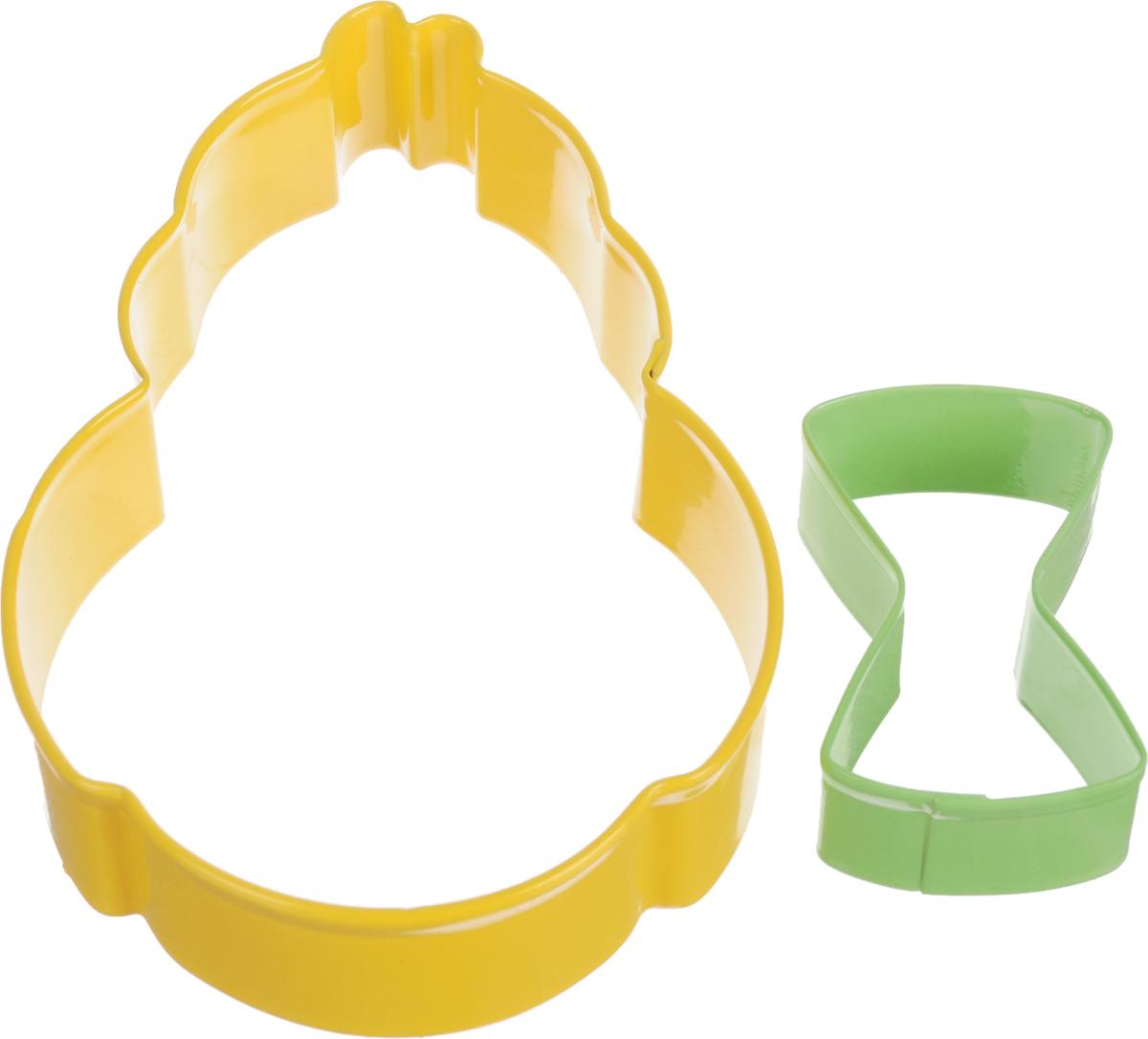 Формочки для вырезания печенья Wilton Цыпленок с бабочкой, 2 штWLT-2308-0217Набор Wilton Цыпленок с бабочкой состоит из трех форм для вырезания фигурного печенья, изготовленных из металла. Формы выполнены в виде цыпленка и бабочки. Если вы любите побаловать своих домашних вкусным и ароматным печеньем по вашему оригинальному рецепту, то формы для вырезания печенья как раз то, что вам нужно!Формы можно использовать как трафарет для вырезания фигурок из бумаги и других материалов.Размер формочки в виде цыпленка: 11.5 см х 7.5 см х 2,5 см.Размер формочки в виде бабочки: 5 см х 3 см х 2 см.Возрастная категория: 3+.