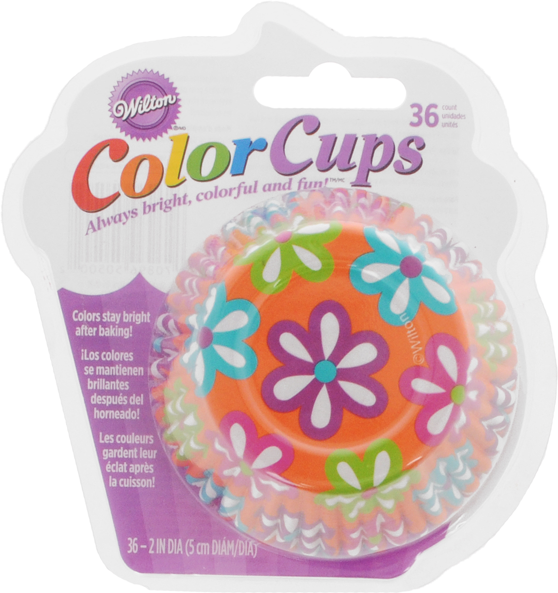Набор бумажных форм для кексов Wilton Цветы, 36 штWLT-415-0500Набор Wilton Цветы состоит из 36 бумажных форм для кексов, оформленных принтом цветы. Они предназначены для выпечки и упаковки кондитерских изделий, также могут использоваться для сервировки орешков, конфет и много другого. Для одноразового применения. Гофрированные бумажные формы идеальны для выпечки кексов, булочек и пирожных.Высота стенки: 3 см. Диаметр (по верхнему краю): 7 см.Диаметр дна: 5 см.