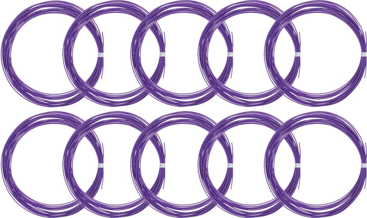 Spider Box пластик ABS, Purple 10 м 10 шт2990000002037Набор пластика ABS Spider Box - это главный и единственный расходный материал, используя который вы сможете делать мыслимые и немыслимые вещи, подсказанные вашим воображением.Пластик ABS может принимать много разных полимерных форм, ему можно придавать множество самых различных свойств. Его пластичность позволяет легко создавать элементы различных соединений и крепежа.Материал легко шлифуется и обрабатывается. Важно отметить, что ABS пластик растворяется в ацетоне, что позволяет склеивать детали и добиваться очень гладкой поверхности.При плавлении может выделять легкий запах пластмассы.