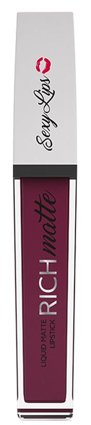 Sexy Lips Помада губная жидкая матовая Rich Matte, №6, 10 млSD-00010Стойкое матовое покрытие на целый день. Жидкая текстура моментально превращается в матовую. Плотное нанесение с одного раза без разводов. Комфортна и абсолютно неощутима на губах. Приятный аромат, удобный аппликатор. Идеальные насыщенные цвета. Представлена в самых модных оттенках. * Для избежания пересушивания губ перед использованием матовой жидкой помады рекомендуем нанести бальзам для губ для большего комфорта в носке.