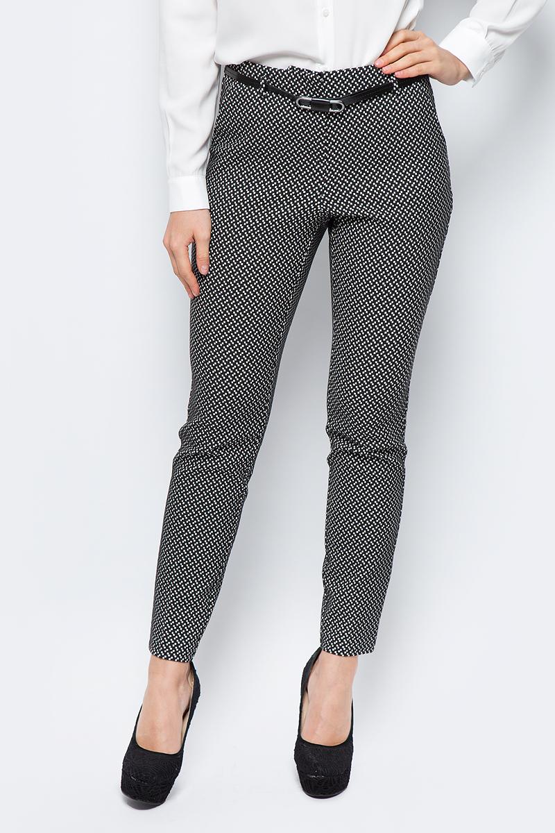 Брюки женские adL, цвет: черный, белый. 15331921000_001. Размер XS (40/42)15331921000_001Стильные женские брюки adL - это изделие высочайшего качества, которое превосходно сидит и подчеркнет все достоинства вашей фигуры. Брюки стандартной посадки выполнены из хлопка с добавлением полиэстера и эластана, что обеспечивает комфорт и удобство при носке. Изделие оформлено контрастным орнаментом. На талии предусмотрены шлевки для ремня. Эти модные и в то же время комфортные брюки послужат отличным дополнением к вашему гардеробу и помогут создать неповторимый современный образ.