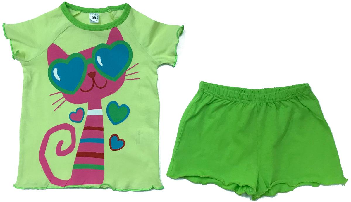 Пижама для девочки Arge Fashion, цвет: зеленый. УЗТ-ПЖД-003-9. Размер 122УЗТ-ПЖД-003-9