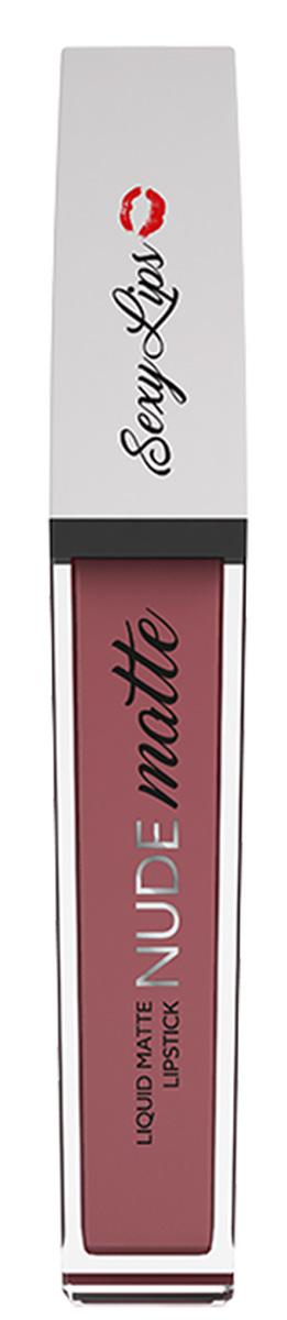 Sexy Lips Помада губная жидкая матовая Nude Matte, №2, 10 млSD-00006Стойкое матовое покрытие на целый день. Жидкая текстура моментально превращается в матовую. Плотное нанесение с одного раза без разводов. Комфортна и абсолютно неощутима на губах. Приятный аромат, удобный аппликатор. Идеальные насыщенные цвета. Представлена в самых модных оттенках. * Для избежания пересушивания губ перед использованием матовой жидкой помады рекомендуем нанести бальзам для губ для большего комфорта в носке.