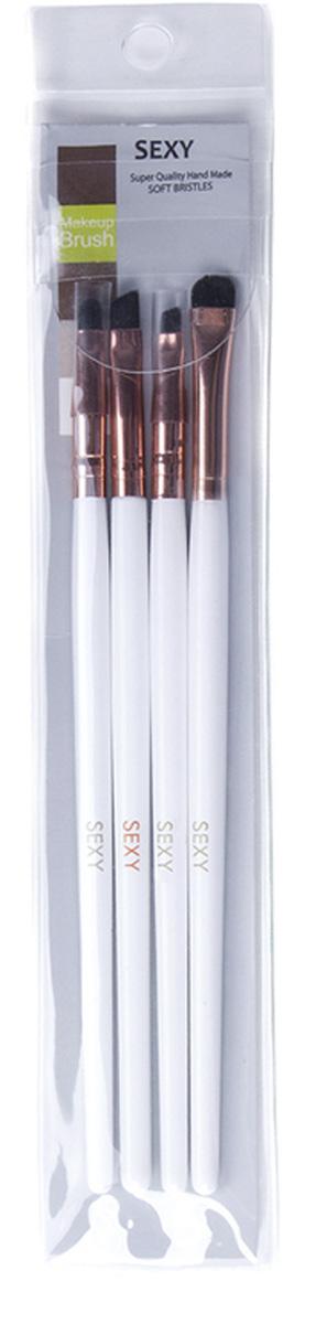 Sexy Набор бровиста, 4 кистиSC-00045Четыре кисти с синтетическим ворсом, идеально подходят для точного и легкого нанесения состава на брови.