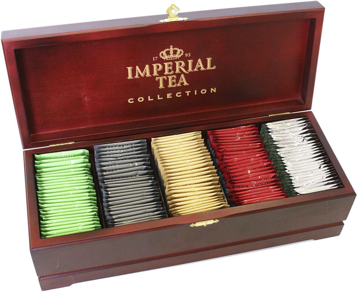 Императорский Чай Collection ассорти в деревянной шкатулке, 125 шт чай ассорти imperial tea collection пакетированный набор