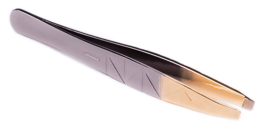 Sexy Lashes Пинцет для бровей скошенный, цвет: серое золотоSC-00027Пинцет для бровей серое золото глянцевый (скошенный)