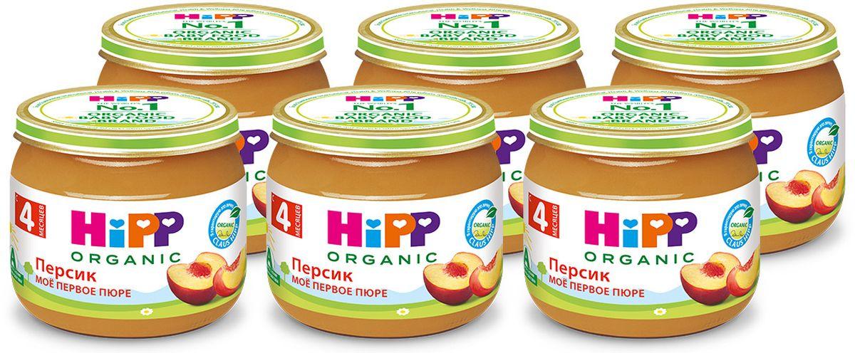 Хипп мое первое пюре персик с 5 месяцев, 6 шт по 80 г9062300425021Персик является ценным источником растворимой клетчатки, регулирующей и улучшающей деятельность кишечника и подавляющей гнилостные процессы в пищеварительном тракте. Содержит органические кислоты, витамины С, группы В, калий, фосфор, железо, селен.