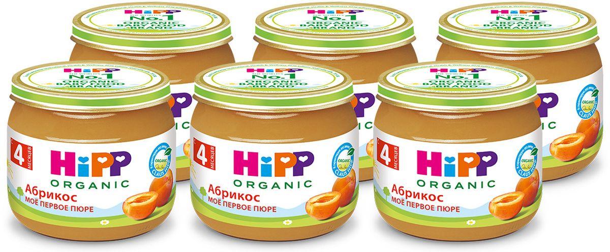 Хипп мое первое пюре, абрикосы, 4мес, 6 шт по 80 г холст 30x30 printio the beatles