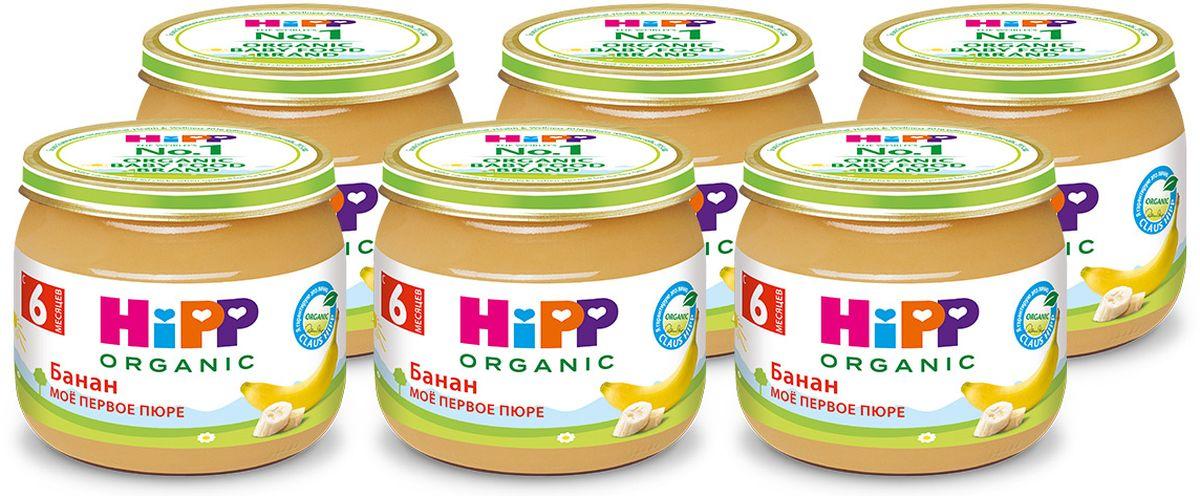 Хипп мое первое пюре, банан, 6 мес, 6 шт по 80 г банан шт such as water 100g3