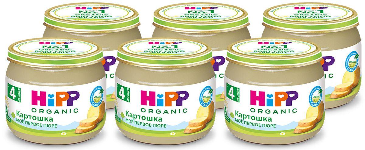 Хипп мое первое пюре картошка, 4 мес, 6 шт по 80 г9062300425076Пюре Hipp Картошка. Картофель содержит множество витаминов, микро- и макроэлементов, незаменимых кислот. По своим биологическим свойствам белки картофеля превосходят белки других овощей, а содержащийся в нем калий нормализует в организме водный баланс и поддерживает работу сердечно-сосудистой системы. Картофельное пюре подойдет в качестве первого прикорма не только здоровым детишкам, но и малышам, склонным к аллергическим реакциям.