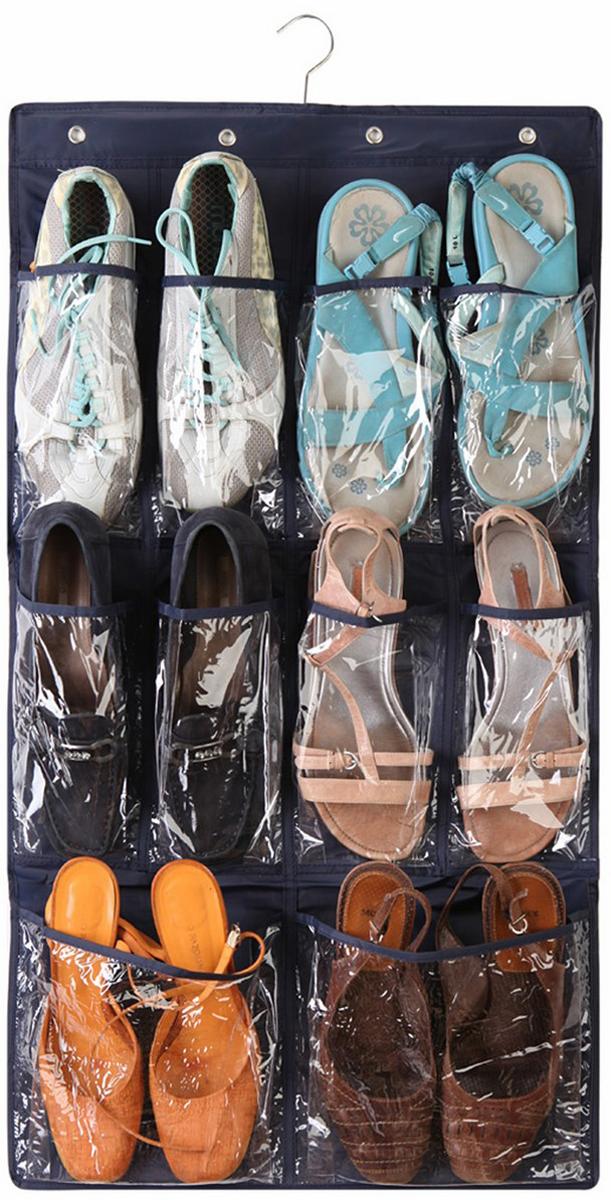 Органайзер для обуви Ruges Слайд-6, подвесной, цвет: черный, 85 х 45 х 0,2 смD-266 пар тапочек можно подвесить в шкаф и они больше не будут путаться под ногами. Органайзер «СЛАЙД» крепится с помощью крюка вешалки в верхней части и не обязательно в шкаф. Для ежедневного использования отлично подойдет и стена в коридоре. В органайзер поместятся не только тапочки, но и другая обувь без каблуков. Идеально для хранения сезонной обуви – собрали все лето и повесили на хранение. Размеры: 85 х 45 х 0,2 см Вес: 120 гМатериал: текстиль, металл, ПВХ