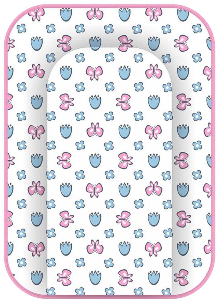 Polini Доска пеленальная Бабочки цвет розовый