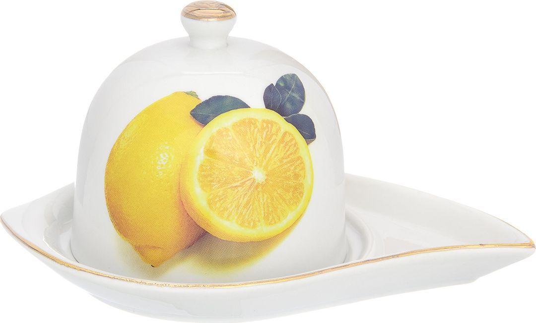 Подставка под лимон Elan Gallery Лимоны, 17,5 х 11,5 х 9 см200059Подставка под лимон состоит из блюда и крышки. Украсит любое событие и сохранит лимон от заветривания. Изделие имеет подарочную упаковку, поэтому станет желанным подарком для Ваших близких!