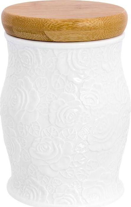 Банка для сыпучих продуктов Elan Gallery Белые розы, с крышкой, 1 л860038Универсальная банка с крышкой подойдет и для сыпучих продуктов, специй. Изделие в подарочной упаковке. Размер 11х11х16 см. Объем 1 л.
